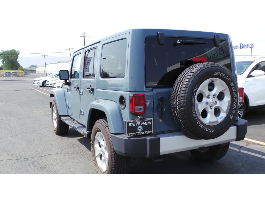 pre owned 2014 jeep wrangler unlimited sahara 4 door wagon open body in union gap 2346824p. Black Bedroom Furniture Sets. Home Design Ideas